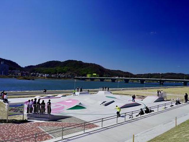 芦田川かわまち広場 タカオ スケートパーク 福山